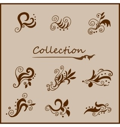 Vintage curls collection vector
