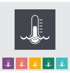 water temperature vector image