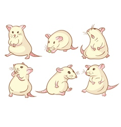 White mice vector