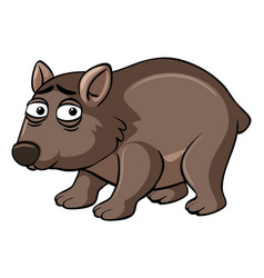 Wombat with unhappy face vector