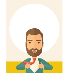 Working man to change his clothes vector