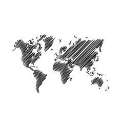 world map scribble vector image
