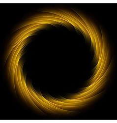 Dark glow orange swirl background vector image
