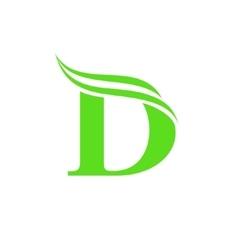 Dynamic Logo letter D logo design template vector image vector image