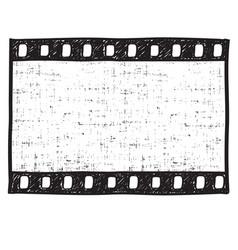 film strip background empty film frame sketch vector image vector image