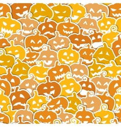 Halloween seamless pattern with yellow and orange vector image