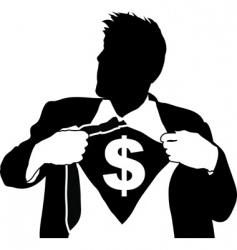 Super businessman vector