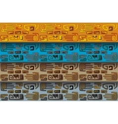 tribal pattern in different color ranges vector image