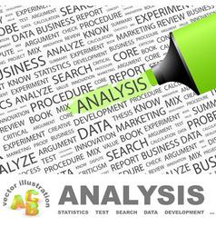 ANALYSIS vector image