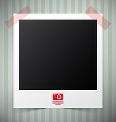Empty Photo Film Frame with Camera Icon on Retro - vector image