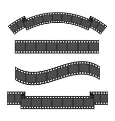 Film strip frame four set Different shape ribbon vector image vector image