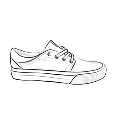 hand drawn sketch of sport shoes sneakers for vector image vector image
