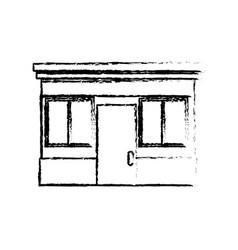 sketch facade store door windows image vector image