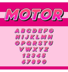Speed Racing Sport Italic Font with Letters and vector image