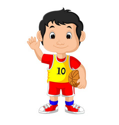 a young male basketball player vector image
