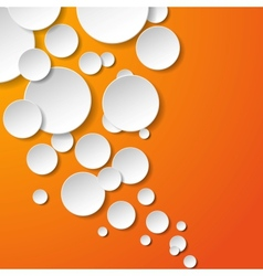 Abstract white paper circles vector image vector image