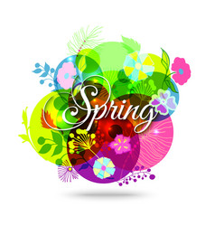 Colorful Abstract Flower Background Spring Floral vector image