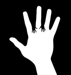 helping hands vector image vector image