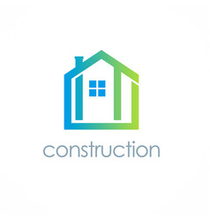 home construction logo vector image vector image