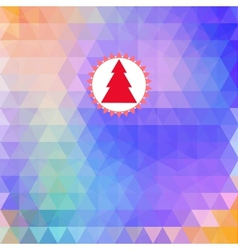 Merry Christmas card abstract geometric background vector image vector image