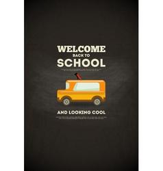 school poster bus vector image