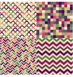 seamless multicolored geometric pattern vector image