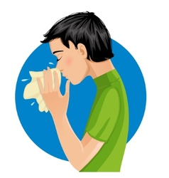 Sneezing man eps10 vector image