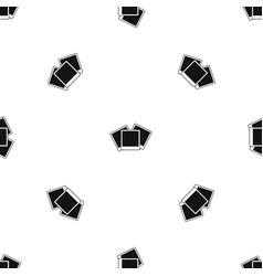wedding invitation cards pattern seamless black vector image vector image