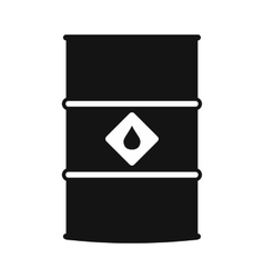 Oil barrel black simple icon vector image