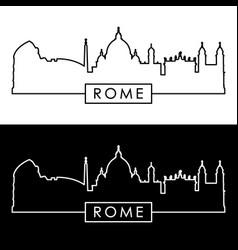 rome skyline linear style editable file vector image
