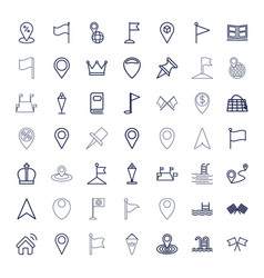 49 location icons vector