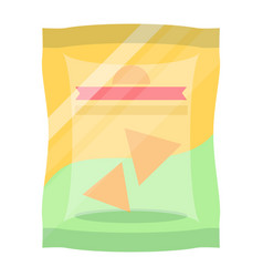 Bag of chips isolated icon vector