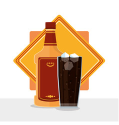 Bar drinks concept vector