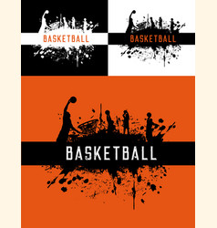 Basketball sport club championship players poster vector