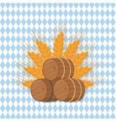beer barrels at octoberfest vector image