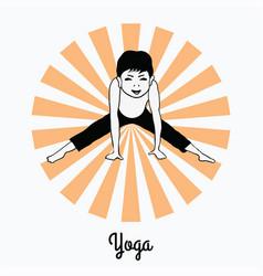 boy in a yoga pose 5 vector image