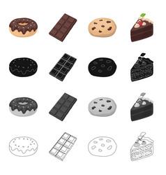 chocolate donut chocolate bardessert americano vector image