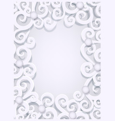 christmas paper cut greeting card background vector image