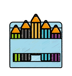 Colors box icon vector