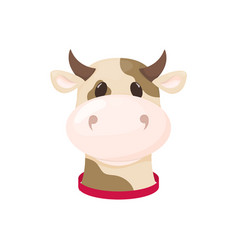 Cow farm animal cute cartoon cattle vector