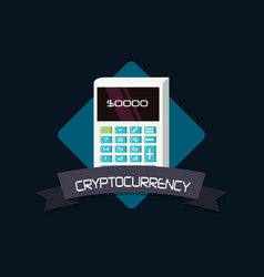 Cryptocurrency concept design vector