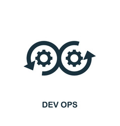 Dev ops icon simple element from digital vector