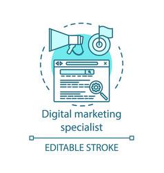 Digital marketing specialist concept icon vector
