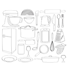 Doodle kitchen vector