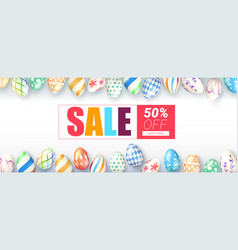 Easter sale springtime special offer ad banner vector