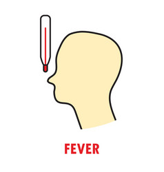 fever or heat logo or icon template vector image