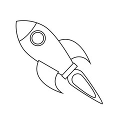 flying rocket icon image vector image