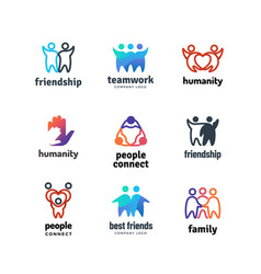 friendship community friendly team people together vector image