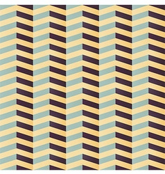 Geometric seamless pattern with colorful chevron vector