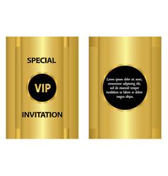 golden vip invitation template vector image